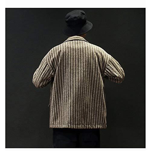 Uomo Black E Grandi Cappotto Skkmall Di L Size Lana Inverno Autunno Khaki Color Dimensioni color Moda In Lungo OfOqwzXPS