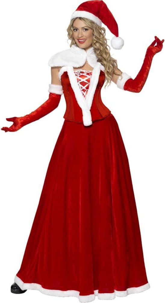 Disfraz de Mamá Noel de lujo para mujer S: Amazon.es: Juguetes y ...