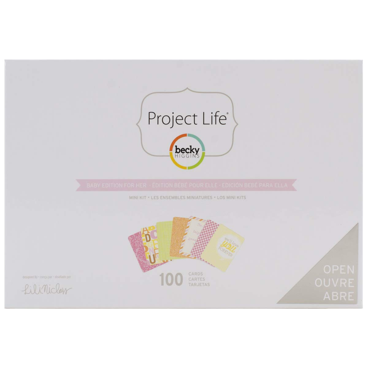 American Crafts Project Life Mini Kit-Baby-for Her, Multi-Color, 4 x 6 Inch 380043