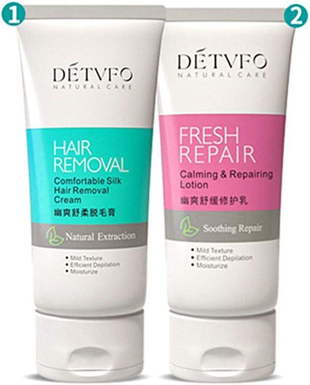 Crema depilatoria 100ml + Leche reparadora 80ml Crema depilatoria indolora y eficaz, crema depilatoria para bikini y axilas para pieles sensibles,Te hace más atractivo: Amazon.es: Belleza