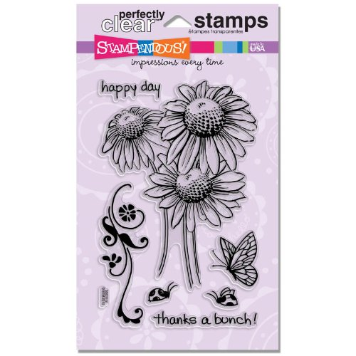 (STAMPENDOUS SSC1112 Perfectly Clear Stamp, Daisy)