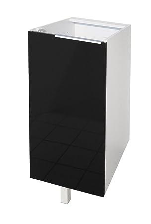 Berlenus CP3BN - Mueble bajo de cocina con 1 puerta (30 cm), color ...