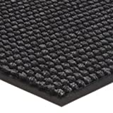 Entrance Runner Water Absorbing Carpet-like Rug Checkered Surface Floor Mat 3/8'' thick for Entryways Lobbies Hallways Hotel Office S071 (4'x8', Granite)