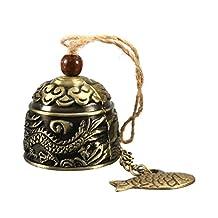 Vintage Dragon Fengshui Bell Good Luck Bless Home Garden Hanging Windchime