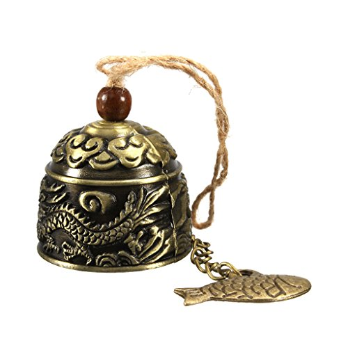 MagiDeal Vintage Dragon Fengshui Bell Good Luck Bless Home Garden Hanging Windchime