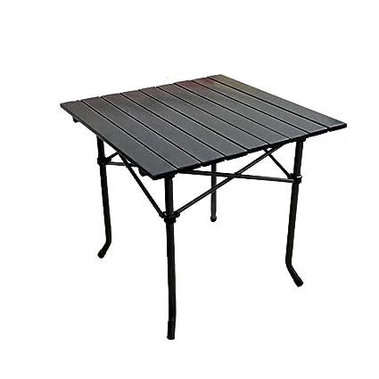GWF Mesa plegable de aluminio para exteriores Mesa plegable portátil Mesa de aluminio informal Mesa para
