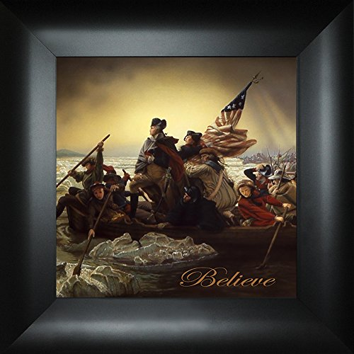 Believe By Emanuel Leutze Todd Thunstedt 18x18 Patriotic George Washington Crossing Delaware