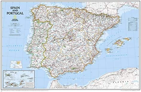 Spain & Portugal, Tubed: Wall Maps Countries & Regions: NG.P622070 National Geographic Reference Map: Amazon.es: Maps, National Geographic: Libros en idiomas extranjeros