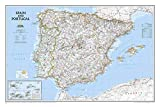 National Geographic: Spain and Portugal Classic Wall Map (33 x 22 inches) (National Geographic Reference Map)