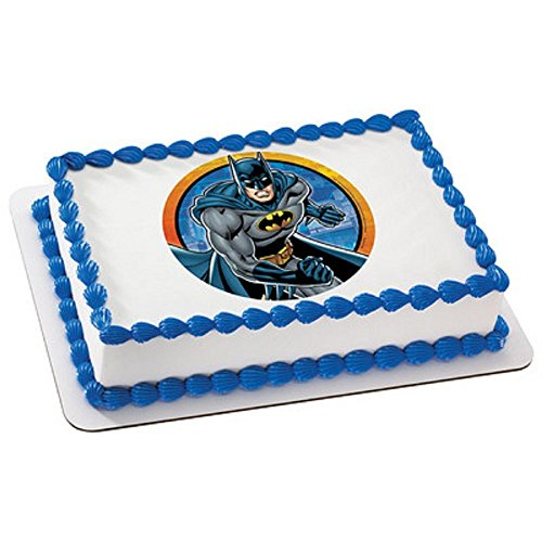 """Whimsical Practicality Batman Edible Icing Image Cake Topper, 7.5"""" Round"""