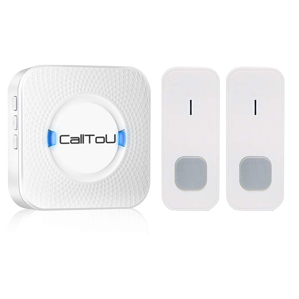 CallToU Wireless Door Open Chime Sensor Entrance Chime Entry Alert Alarm For Home Retail Store Business shop Apartment Office 3 Magnet Door/Window sensors 2 Receivers