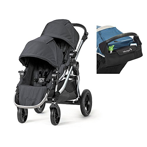 Baby Jogger 2017 City Select Double Stroller with Baby Jogger Parent Console – Onyx