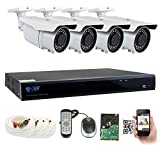 GW Security 8CH Plug & Play 5MP DVR 1920p CCTV Security System, (4) x 5-Megapixel (2592TVL) Weatherproof 2.8~12mm Varifocal Bullet Cameras Home Surveillance System 2TB HDD, QR-Code Easy Setup Review