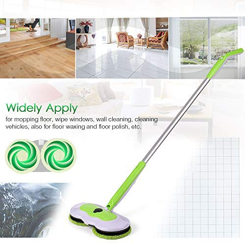 Electric Handheld Mop, 3-in-1 Washing & Spraying&Polishing Function Mop, Rechargeable 360° Cordless Wireless Carpet with 2 Sets of Resuable Microfiber Cleaner by Decdeal
