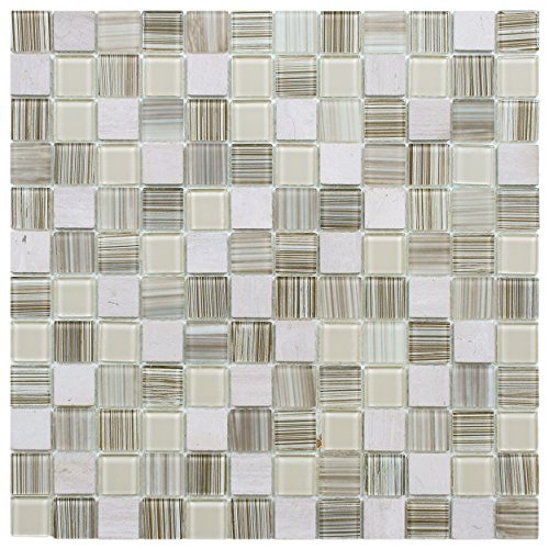 UPC 732763605658, Chroma Square Pistachio 11 3/4 x 11 3/4 Inch Glass and Stone Mosaic Wall Tile (10 Pcs, 9.6 Sq. Ft. Per Case)