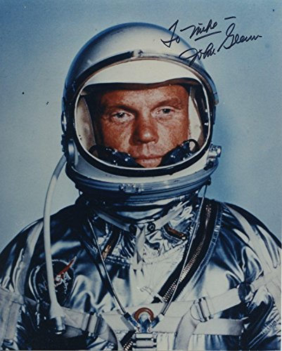 Astronaut John Glenn Hand Signed Autographed Color Photo