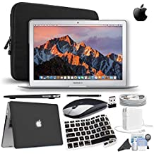 Apple MacBook Air 13.3″ Laptop Bundle [Mid-2017 - Newest Version] (Black Wireless Mouse & Keyboard Cover , 128GB SSD)