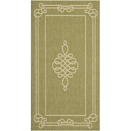 Safavieh Courtyard Collection CY6788-24 Green and Cream Indoor/ Outdoor Area Rug (2' x 3'7