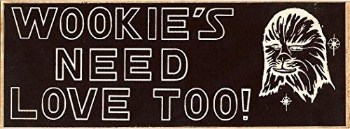 Wookies Need Love Too Bumper Sticker Star Wars Vintage (Love Reproduction)