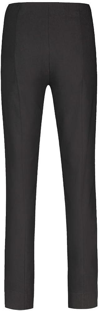 Robell - Marie Bengalin Full Length Trouser, Wine Black