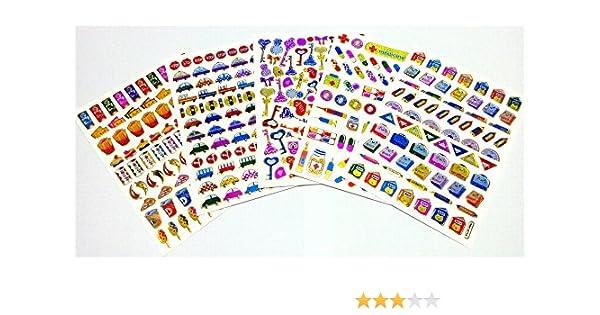 KE@R K@EW Fancy Libro de Mezclas, Caja de Medicina, Llave, Coche, Pegatina de Brillo de Alimentos, 5 Hojas: Amazon.es: Hogar