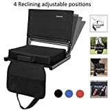 Sheenive Reclining Stadium Seats for Bleachers - Wide Padded Cushion Stadium Seats Chairs for Bleacher with Back Support and Shoulder Strap, 4 Reclining Positions, Detachable Seat for Multi-Use