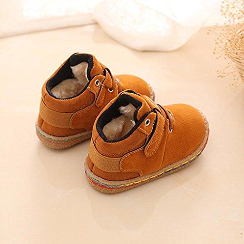 BZLine® Kinder Schuhe Baby Martin Stiefel Casual Kinder Stiefel Schuhe Sneakers Gelb