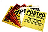 Minuteman Signs POSTED No Trespassing Sign Durable - Premium - Flexible - Post Your Land with Minuteman! - 10 Pack