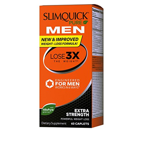 Slimquick Pure Men dietary supplement, 60 Count, Lose 3x the weight (Packaging may vary) ()