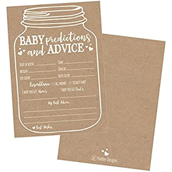 Amazon 50 Rustic Prediction And Advice Cards For Baby Shower