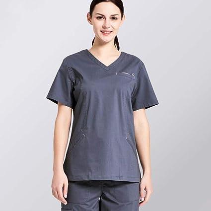 OPPP Ropa médica Ropa médica de algodón, Conjunto quirúrgico, Uniforme de Enfermera, Damas