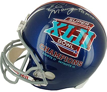 Image Unavailable. Image not available for. Color  Eli Manning Signed  Inscribed Steiner Helmet-Replica 74d726db1
