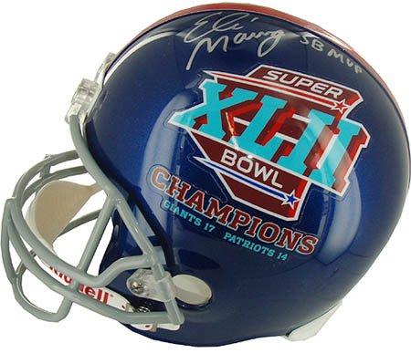 Replica Manning Eli Helmet Autographed (Eli Manning Signed Inscribed Steiner Helmet-Replica)