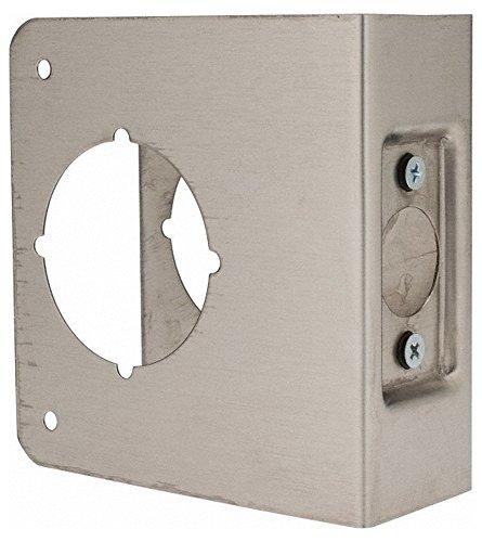 4-1/4'' Wide x 4-1/2'' High, Stainless Steel, Door Reinforcer, 1-3/4'' Thick Door, 2-3/4'' Backset by Don-Jo