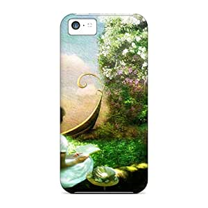 Iphone 5c Hard Back With Bumper Silicone Gel Tpu Case Cover Quiet Moment With God