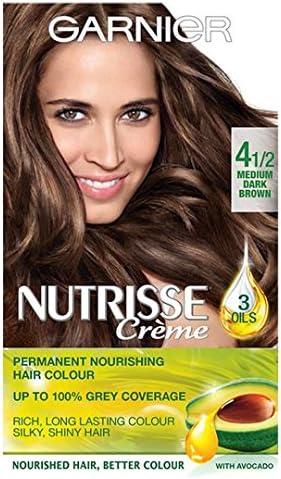Garnier Nutrisse Creme 4.12 mediano, color marrón oscuro ...