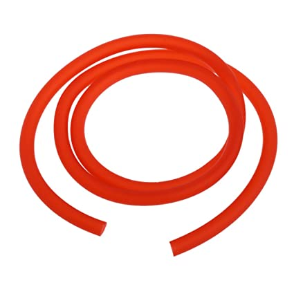1m 5mm I//D 8mm TPU Motorcycle Petrol Fuel Hose Gas Oil Tube Line Pipe Red