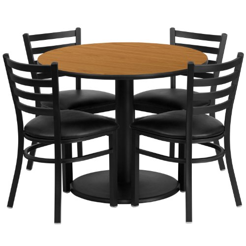 Flash Furniture 36'' Round Natural Laminate Table Set with 4