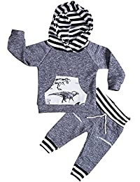 Toddler Infant Baby Boys Deer Long Sleeve Hoodie Tops...