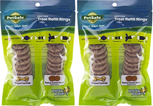 PS Busy Buddy Pack of 2 Variety Pack Treat Refill Rings, Size A