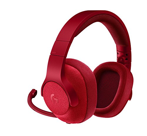 Logitech G433 7.1 Surround Gaming Headset, DTS Headphone:X 3D Positional Audio, 40 mm Pro-G Audio Drivers, Lightweight, Strong, USB and 3.5 mm Audio Jack, PC/Mac/Nintendo Switch/PS4/Xbox One - Red