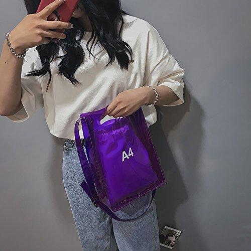 NFL Clear large Women Purse Shoulder Stadium with Bag Inner Purple Strap for Crossbody Bag Approved Messenger Handbag Adjustable TUOTqr