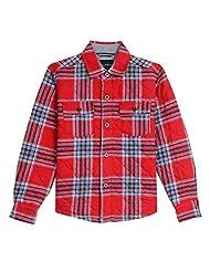 Nautica Big Boys\' Long Sleeve Woven Shirt Jacket, Red Rouge,...