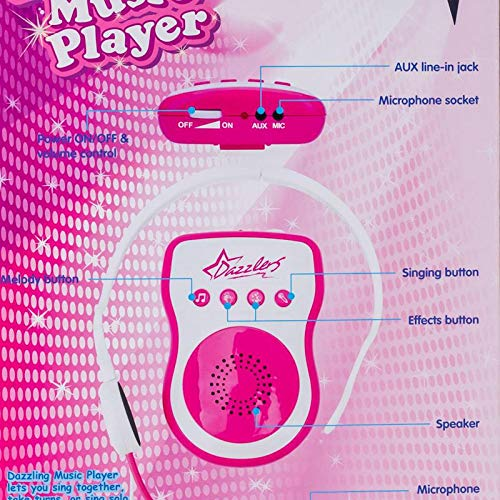 Headset Microphone Dazzling Music Player MP3 Sing Along Gift for Girls +4 by Buyer (Image #2)
