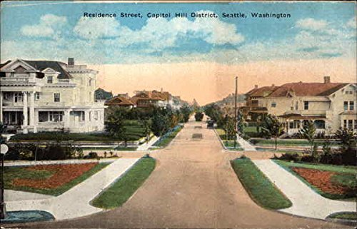 Capitol Hill District, Seattle, Wash Seattle, Washington Original Vintage Postcard