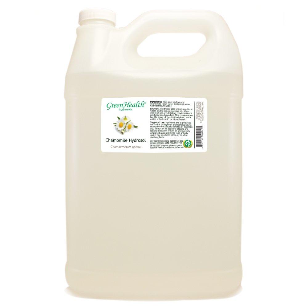 Chamomile Hydrosol - 1 Gallon Plastic Jug w/Cap - 100% pure, distilled from essential oil by GreenHealth