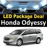 LED Interior Package Super Bright White Light Bulbs for 2008 Honda Odyssey (11 Pieces)