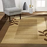 Home Dynamix  Royalty Clover Contemporary Modern Area Rug, Geometric Brown/Blue 5'2'x7'2' rectangle