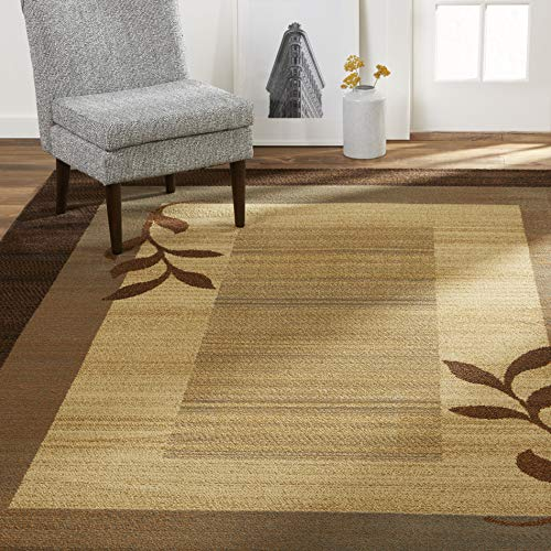 Home Dynamix Royalty Clover Modern Area Rug, Brown Multi, 7'8″x10'4″ Rectangle