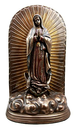 Atlantic Collectibles Our Lady Of Guadalupe Blessed Virgin Mary Catholic Urn Figurine 12.25